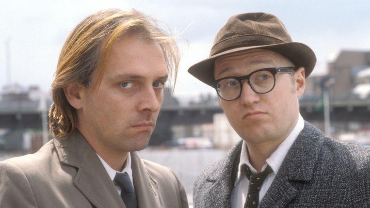 Wijlen Rik Mayall en Adrian Edmondson, het komische duo uit 'Bottom'. Beeld RV