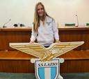 Corina Luijks bij haar presentatie bij Lazio