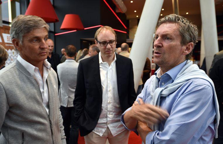 José Riga (Cercle), Nicolas Cornu (Excel Moeskroen) en Francky Dury (Zulte Waregem). Beeld belga