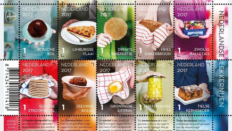 Net als de Limburgse vlaai en de Zeeuwse bolus krijgt ook de Amsterdamse ui een eigen postzegel Beeld PostNL