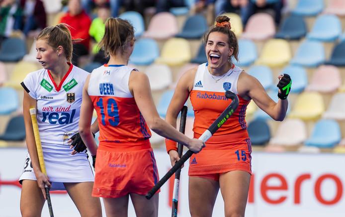 Marijn Veen en Frédérique Matla bij een eerder duel dit jaar.