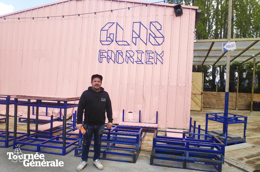 Ondernemer Lieven Dermul opende vorige zomer samen met zijn vennoot Kim Vlaminck de Glasfabriek.