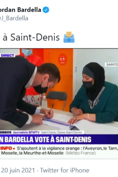 Le candidat RN (ex-FN) Jordan Bardella déclenche une vague islamophobe en un tweet