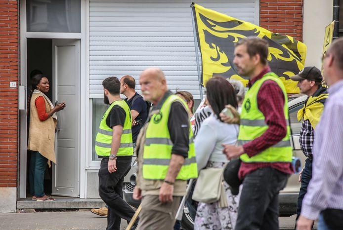 Een beeld van de vorige betoging, in mei 2018