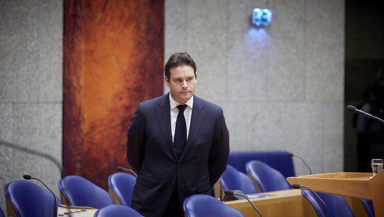De inmiddels ontslagen staatssecretaris Frans Weekers van Financiën. Beeld EPA