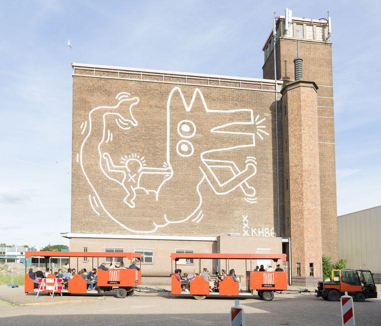 Het koelhuis werd in 1986 beschilderd door Keith Haring. Beeld Ivo van der Bent