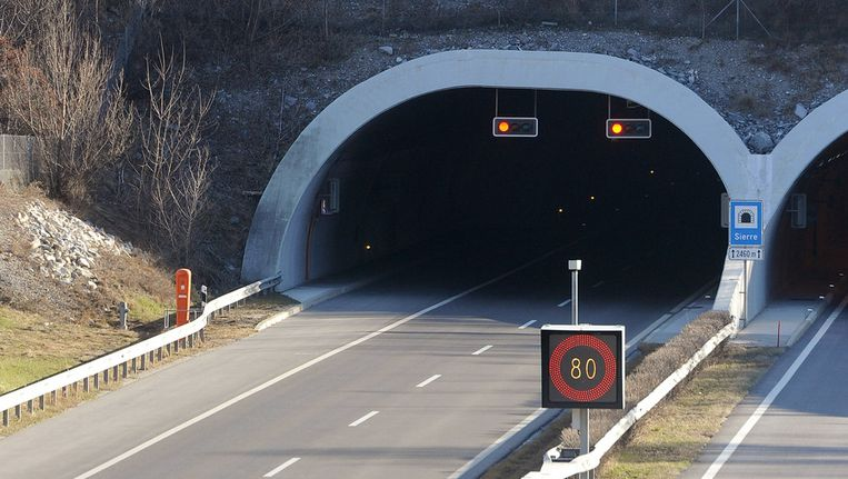 De bewuste tunnel. Beeld getty