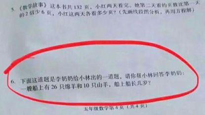 Bizarre vraag op rekentoets doet stof opwaaien in China. Kan jij ze oplossen?