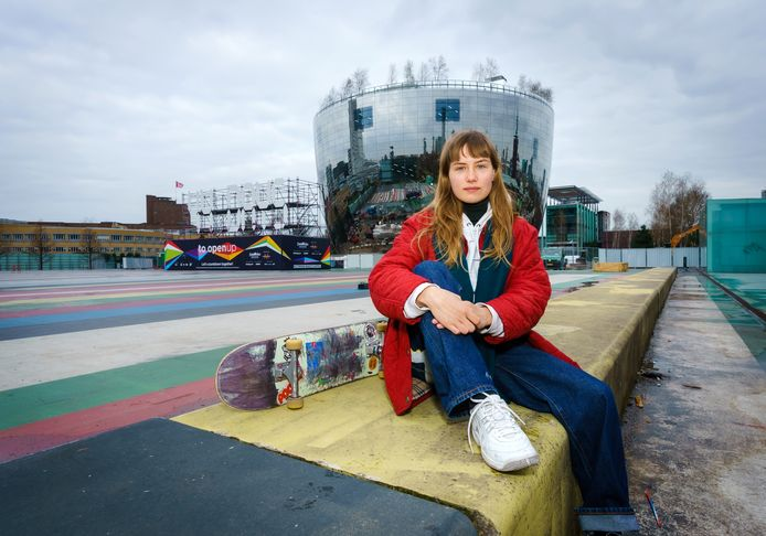 Kim Butter van de petitie 'Behoud Museumpark als Skatespot!'.