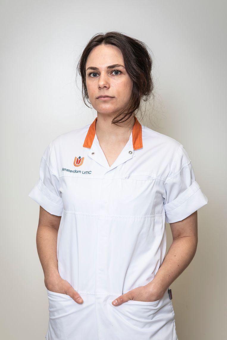 Andrea Esmeijer: 'In een noodgeval begeef je je op het terrein van de arts.' Beeld Dingena Mol