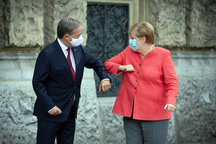 Armin Laschet et Angela Merkel