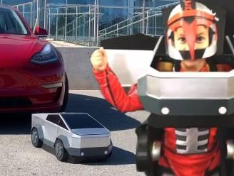 Kleine Jasper (6) is een echte Transformer. Kijk hoe hij verandert in Tesla-truck