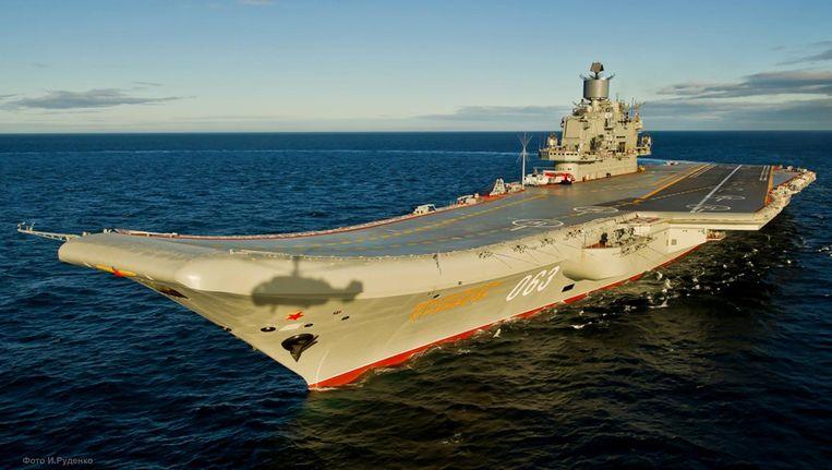 De Admiraal Koeznetsov moet half oktober bij Syrië zijn. Beeld Mil.ru