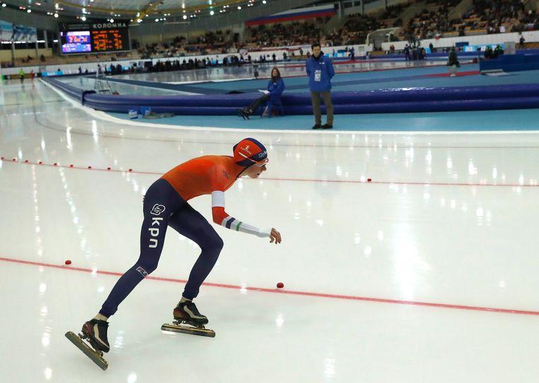 Esmee Visser pakte een gouden medaille op de 3000 meter. Beeld AP