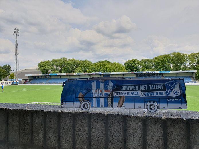 De virtuele bus voor de tour door de clubhistorie