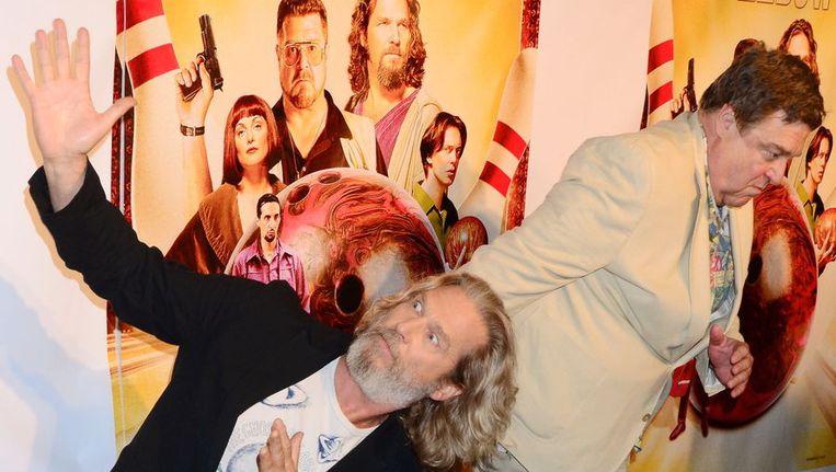 Jeff Bridges (links) en John Goodman gisteren in New York. Beeld bruno