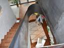 Voor de vloer kozen de bewoners voor kambala parket en gepolierd beton.