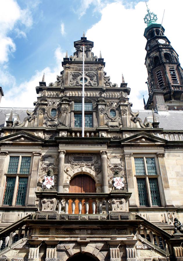 Het stadhuis van Leiden.
