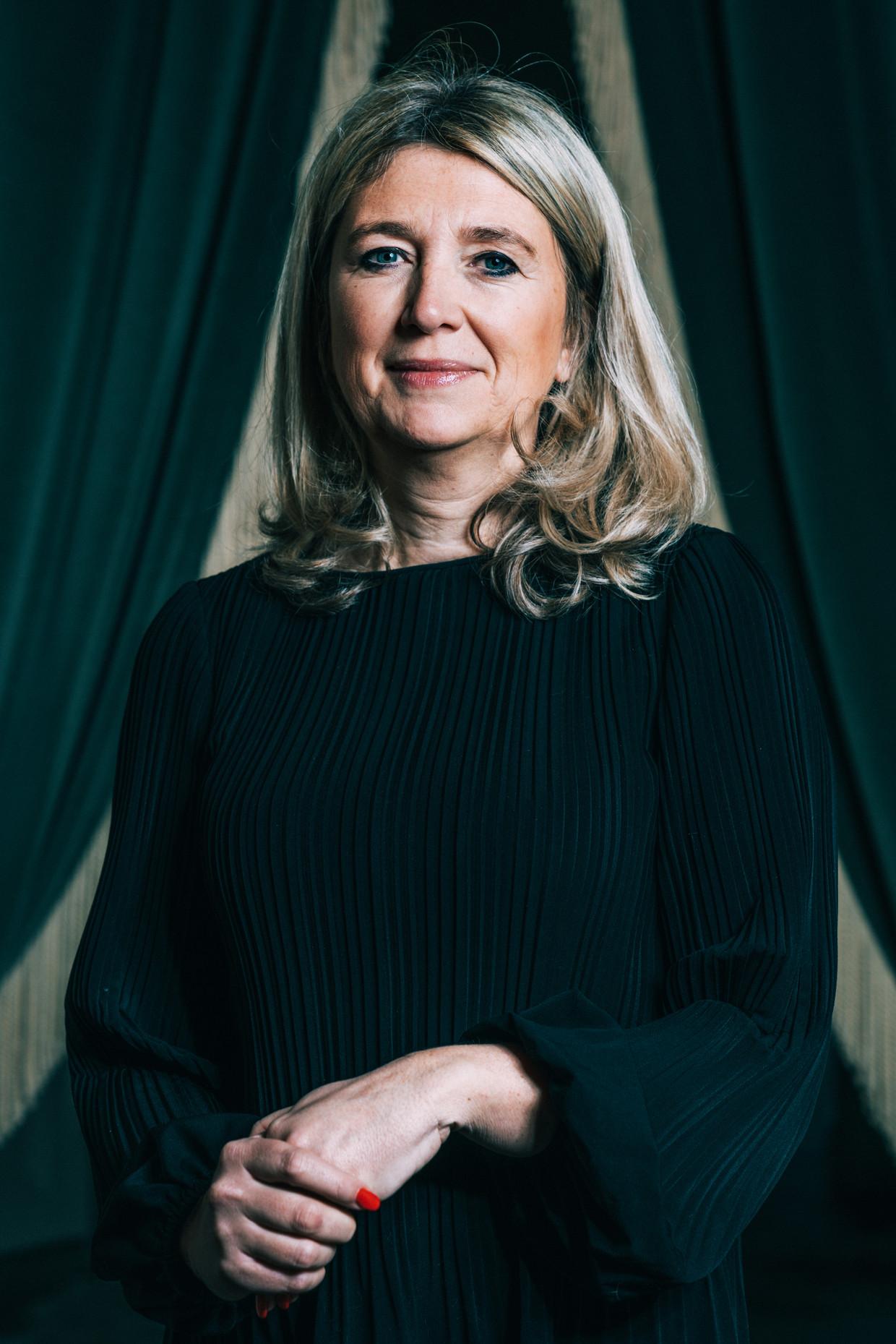 Politica Mercedes Van Volcem (Open Vld): 'Mijn kinderen krijgen sinds vorige week voortdurend te horen: 'Awel, thuis geen eten gehad?'' Beeld Illias Teirlinck