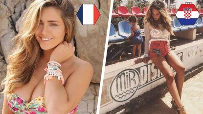 Miss Côte d'Azur en Spaanse celebrity zijn eerste kwartfinalistes in ons WK der WAG's