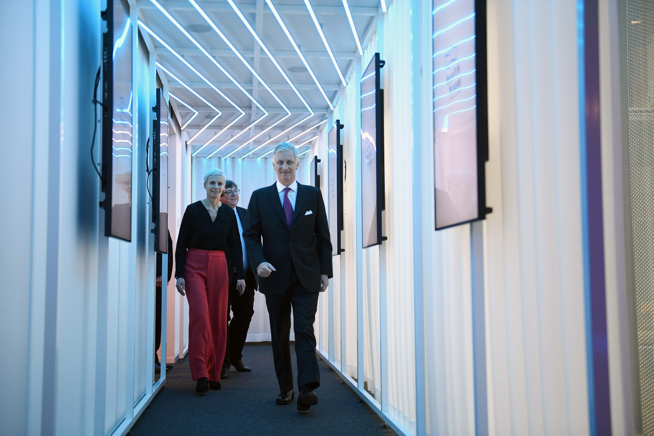 Koning Filip bezoekt Health House in Leuven.
