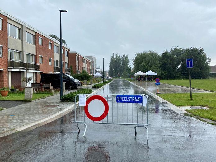 Deze week is de Zonnedauwlaan in Oostmalle een speelstraat