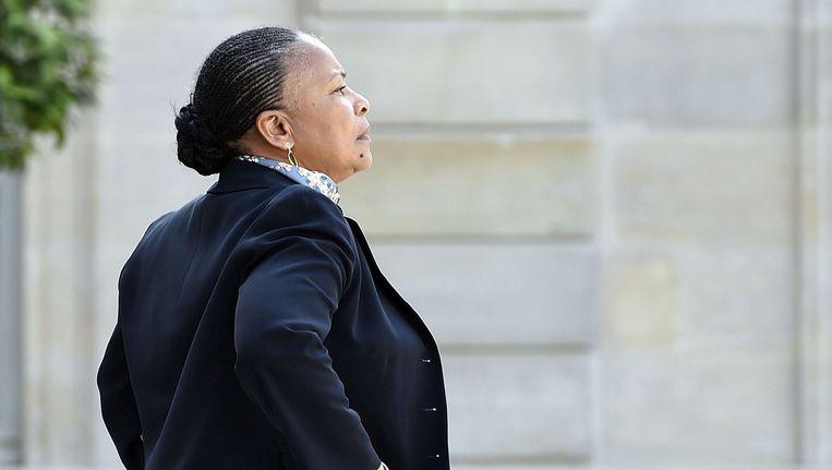 Christiane Taubira verlaat het Elysée. Beeld afp