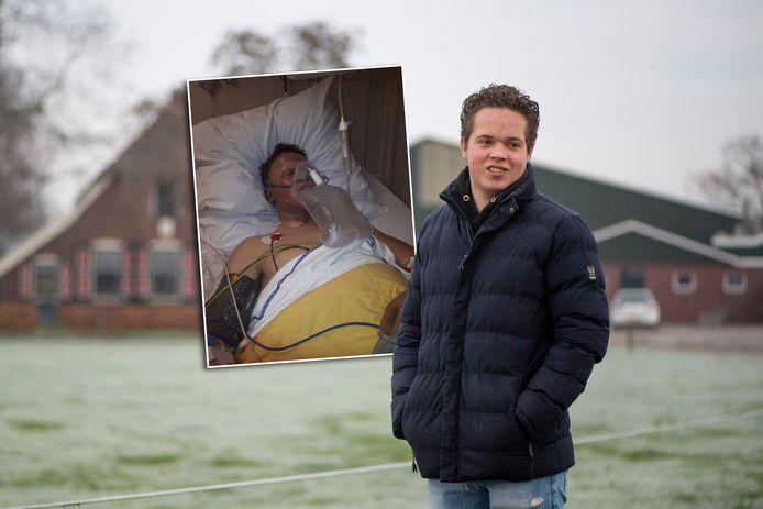 Rick Hammink is twee jaar geleden zwaar gewond geraakt bij afsteken carbidkanon.