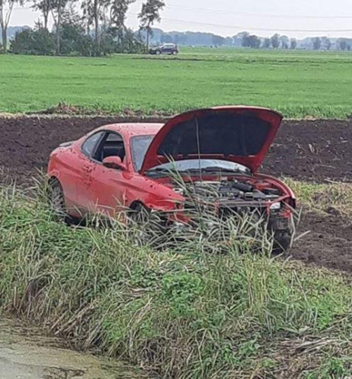 Met auto's en brommers werd er gereden over een geïmproviseerd circuit op een maïsveld in Wijngaarden.