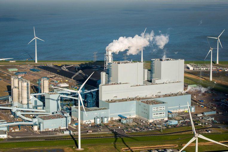 De kolencentrale van RWE/Essent in Eemshaven in 2016. Beeld anp
