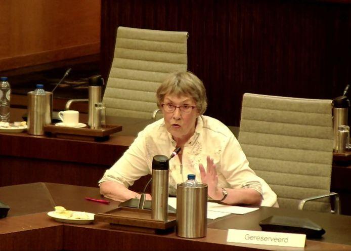 Hanny Flore vorige week als inspreker in de gemeenteraad.