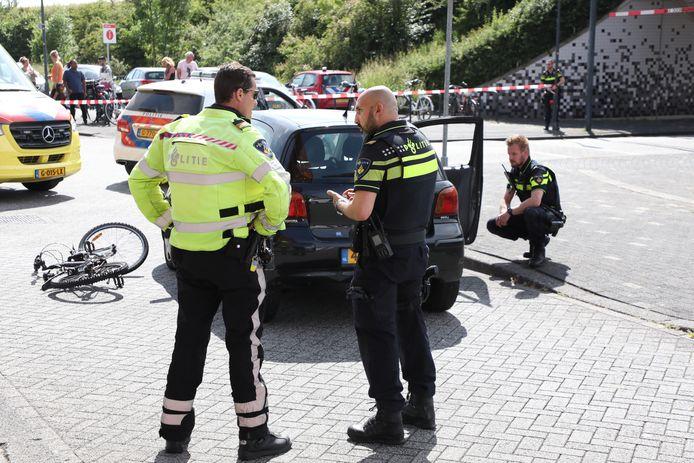 De traumahelikopter landde in de buurt van de Javalaan in Zoetermeer.