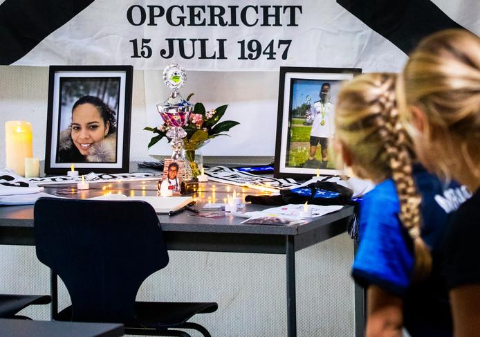 De herdenking van het gezinsdrama bij voetbalclub V.V. Wieldrecht.