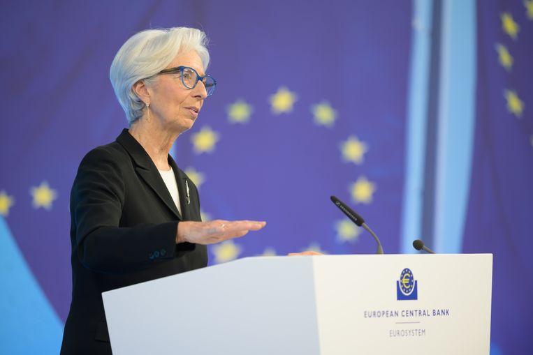 Christine Lagarde eerder dit jaar.  Beeld Martin Lamberts/ECB/dpa
