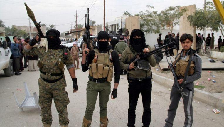 Soennitische militante islamisten in Ramadi Beeld ANP