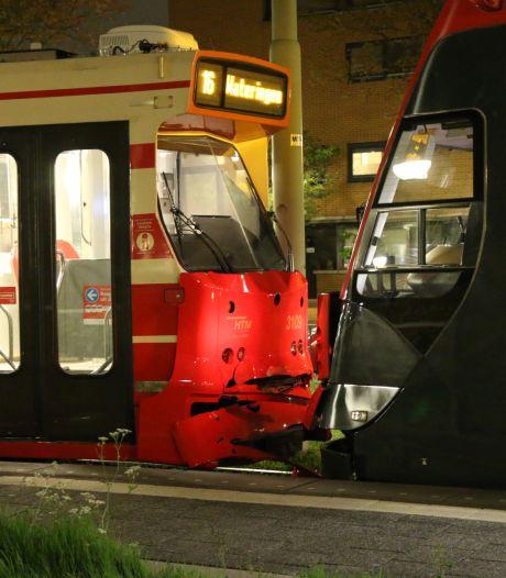Botsing tussen twee HTM-trams: beveiliger gewond