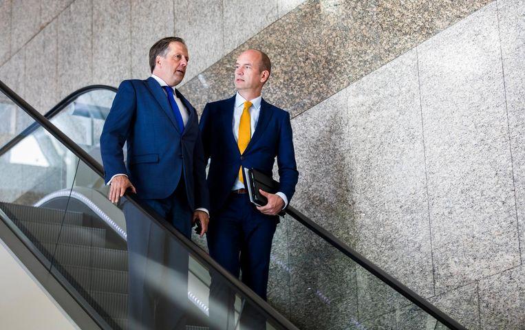 Alexander Pechtold (D66) en Gert-Jan Segers (ChristenUnie) Beeld anp