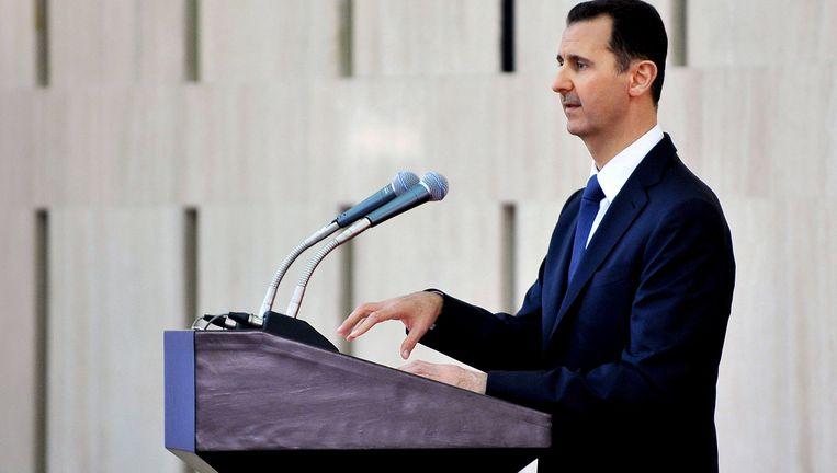 De Syrische president Assad, begin augustus. Beeld AP
