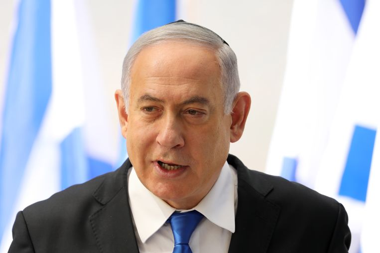 De Israëlische premier Benjamin Netanyahu. Beeld EPA