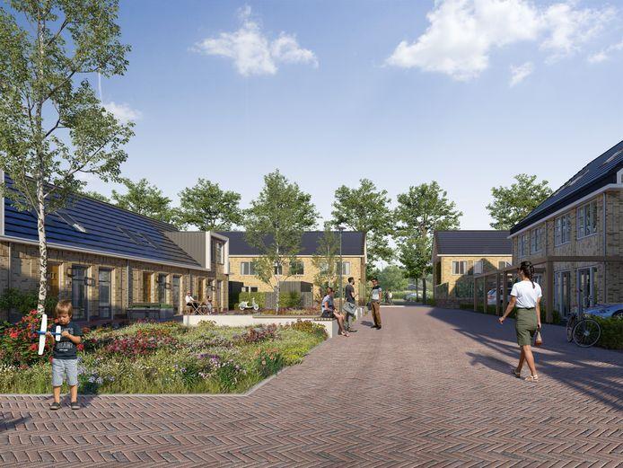 De nieuwe wijk Maanwijk wordt binnenkort gebouwd.
