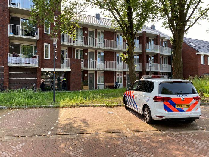 De politie was er gisteren snel bij na het incident in de Schipbeekstraat.