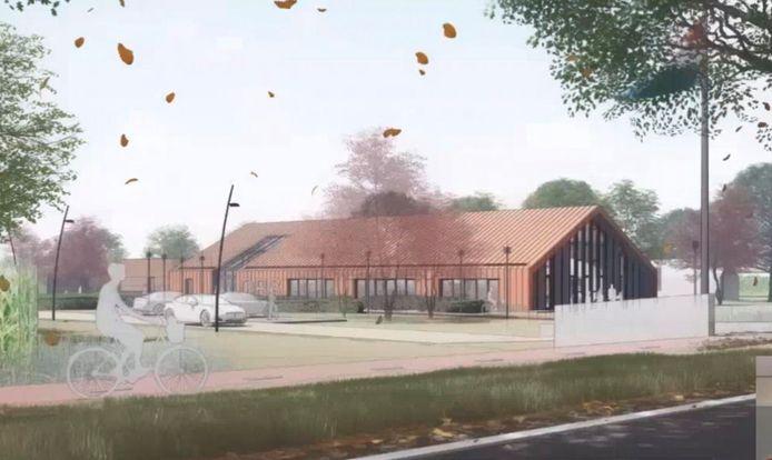 Ontwerp van de school in Giethoorn