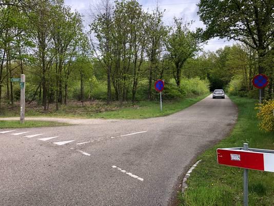 De Pnemstraat met links het begin van het onverharde voetpad dat volgens het CDA 'uit het niets' opduikt.