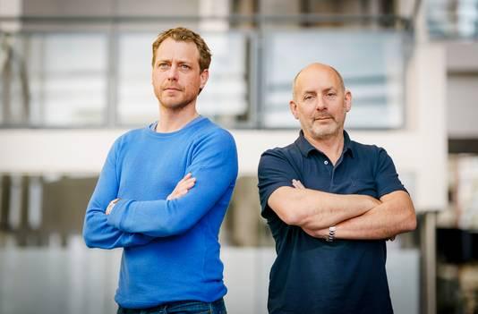 Alain de Levita (rechts) en Mark van Eeuwen zorgen met Levitate Film voor de productie van Slag om de Schelde.
