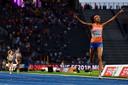 Sifan Hassan wint in 2018 goud bij het EK pop de 5000 meter.