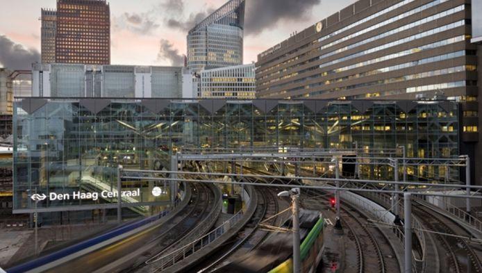 Het nieuwe aangezicht van Den Haag Centraal anno 2016.