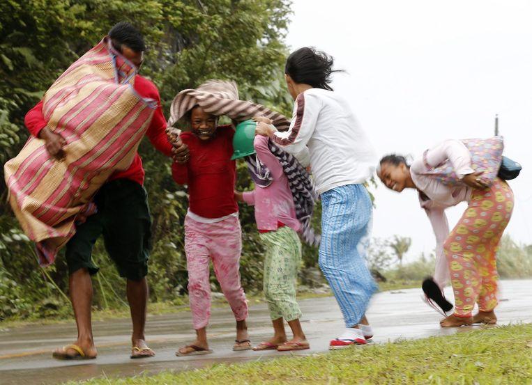 Filipijnen op de vlucht voor Hagupit Beeld epa