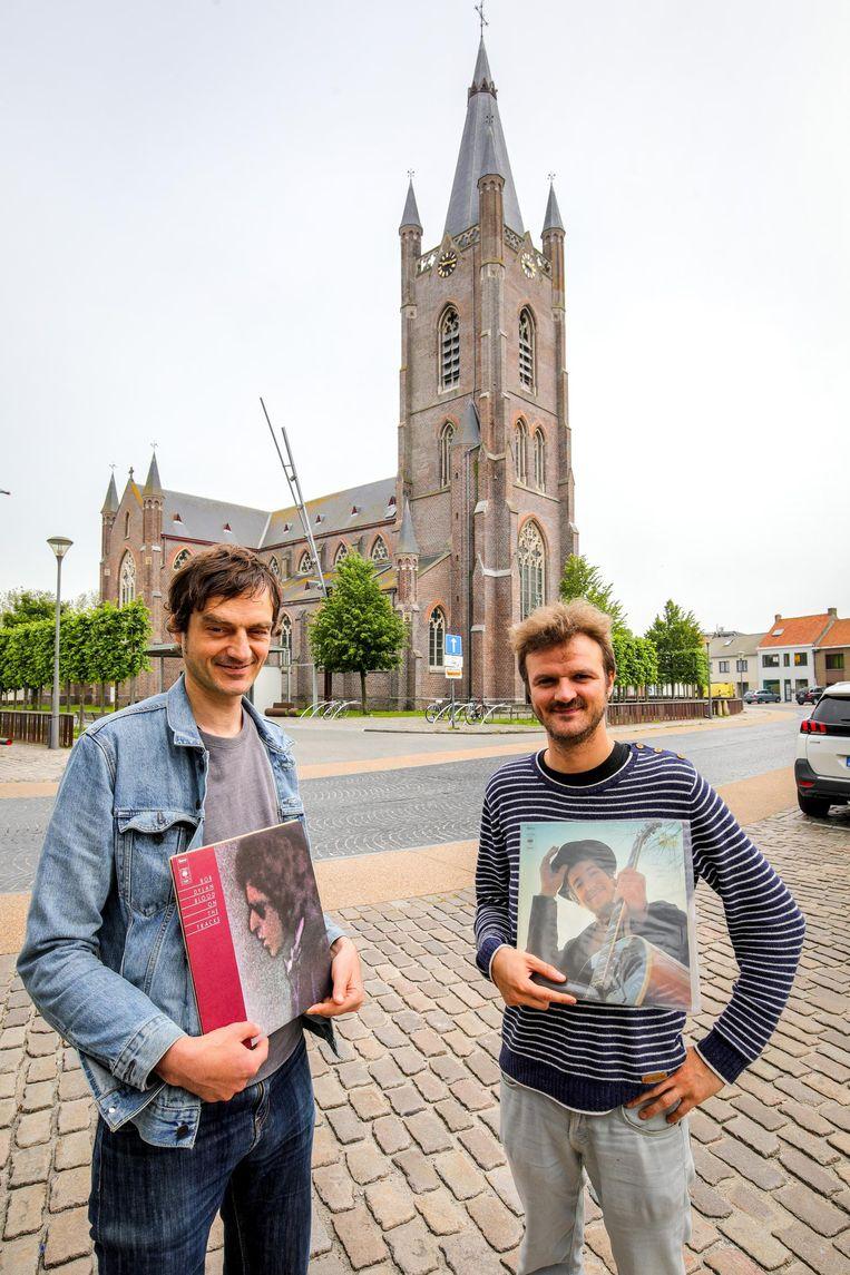 Lode Pauwels en Wouter Vanmeenen organiseren een dansoptreden in de kerk.