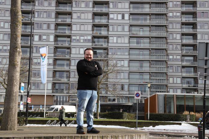 Nachtclubeigenaar Thomas van Kooten werkt nu in de zorg als medewerker in de Ameideflat in Helmond.
