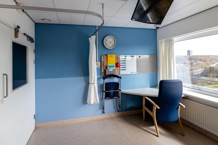 Het Zuyderland Medisch Centrum heeft een speciale afdeling ingericht voor patiënten waarvoor de verdenking bestaat dat ze zijn besmet met het coronavirus.  Beeld null